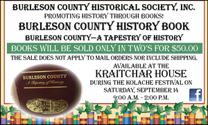 Burleson County History Book