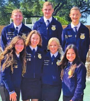CALDWELL HIGH SCHOOL FFA STUDENTS recently attended the 93rd Annual Texas FFA State Convention in Fort Worth.