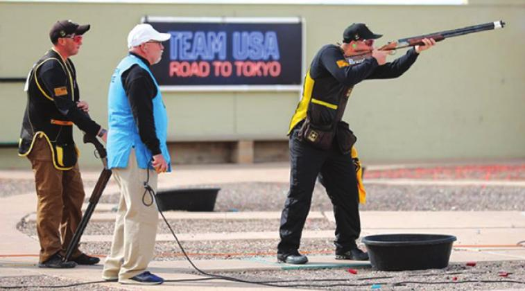 CALDWELL'S PHILLIP JUNGMAN shoots to finish second at the 2020 U.S. Olympic Team Trials for Shotgun in Tucson, Ariz., earning him a spot on the Team USA's Olympic Team. The 2020 Tokyo Olympics have been postponed to the summer of 2020 due to the COVID-19 threat.