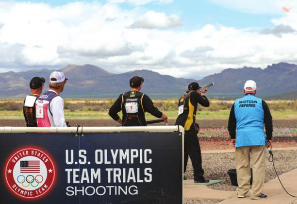 CALDWELL'S PHILLIP JUNGMAN SHOOTS a clay target during this weekend's U.S. Olympic Team Trials for Shotgun. He finished second in Men's Skeet with a score of 537 behind Vincent Hancock and qualified for the 2020 Summer Olympic Games in Tokyo, Japan.