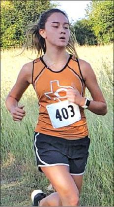 MORGAN BECKA PLACED second at the 2019 Festival Cross Country Invitational at Festival Hill on Saturday with a time of 13:16.98.
